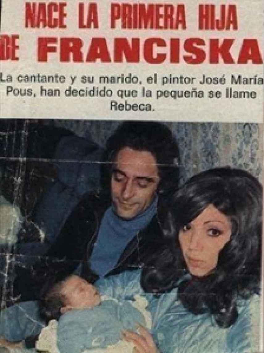 Franciska y José María Pous fueron portada de revista cuando nació Rebeca.