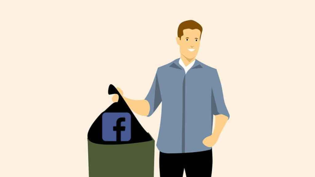 borrar facebook basura