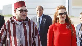 Mohamed VI y la princesa Lalla.