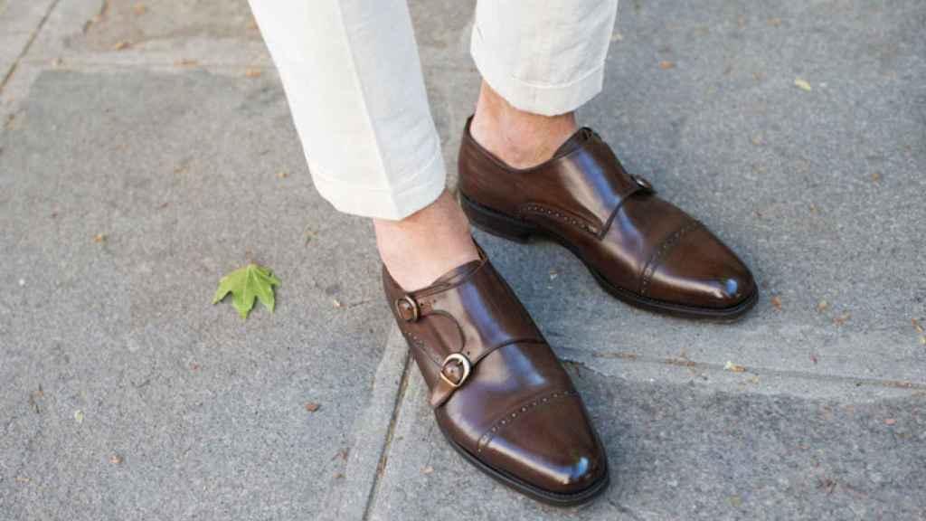 Los zapatos sin calcetines en una imagen de archivo.