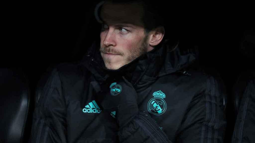 Gareth Bale, en el banquillo.