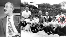 Walter Freeman (izqda.) y Rosemary Kennedy en una foto familiar.