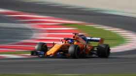 Fernando Alonso en la segunda sesión de entrenamientos libres en Melbourne.
