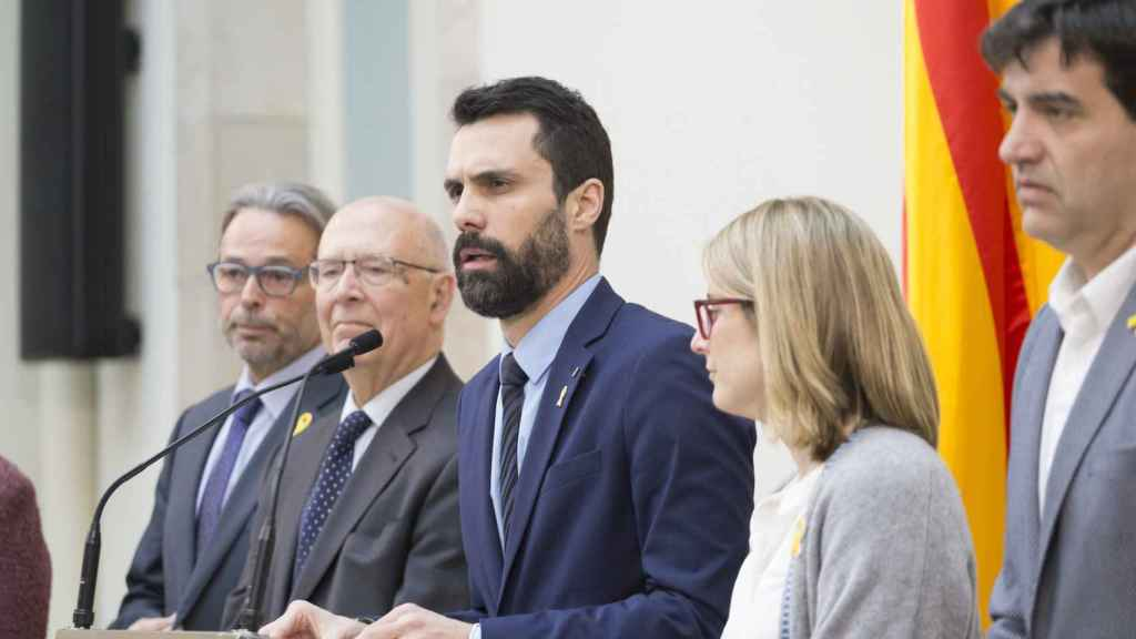 Torrent, este sábado junto a referentes y portavoces independentistas en el Parlament.