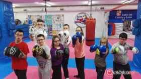 Club de ocio down Exhibicion kickboxing