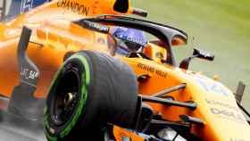 Fernando Alonso, durante el Gran Premio de Australia.