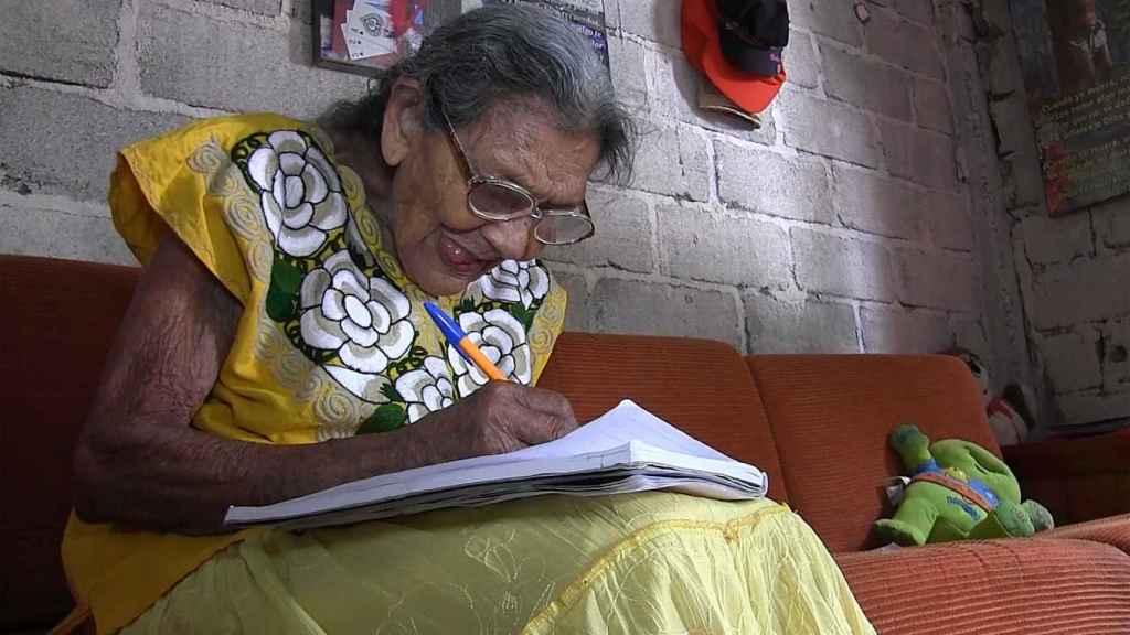 Fotograma extraído de un vídeo fechado el 20 de marzo de 2018, que muestra a la mexicana Lupita Palacios.
