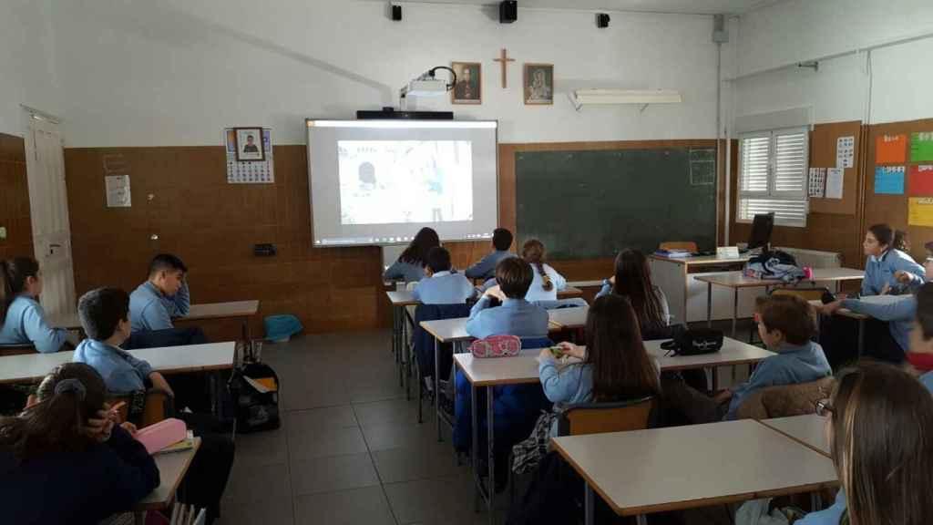 Algunos de los alumnos del centro.