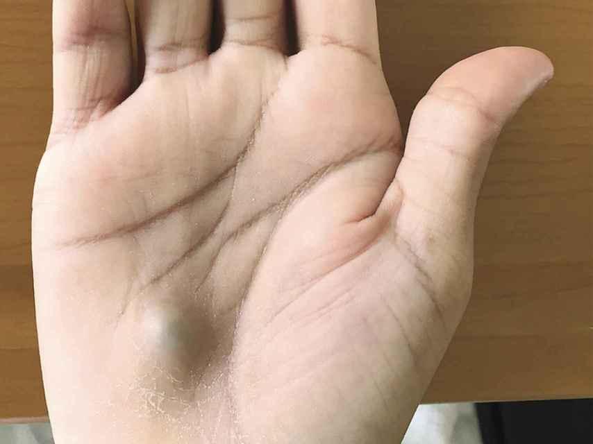 El aspecto de la mano del hombre