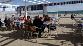 Un chiringuito en una playa de Valencia.
