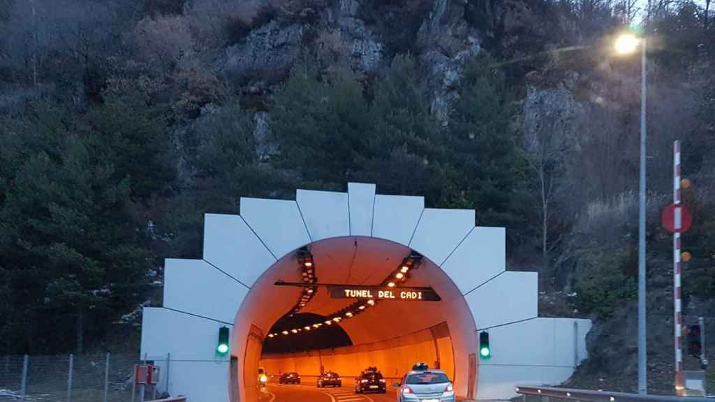 Entrada del túnel del Cadí