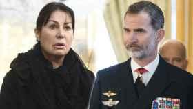 Carmen Martínez Bordiú y el rey Felipe.