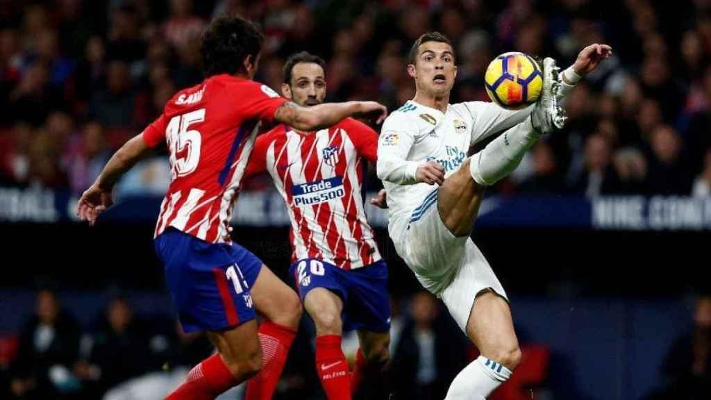 Cristiano, en el Atlético- Real Madrid