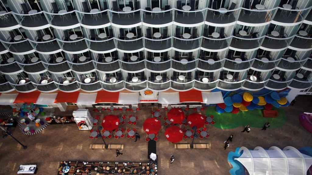 Vistas desde uno de los camarotes con terraza interior.