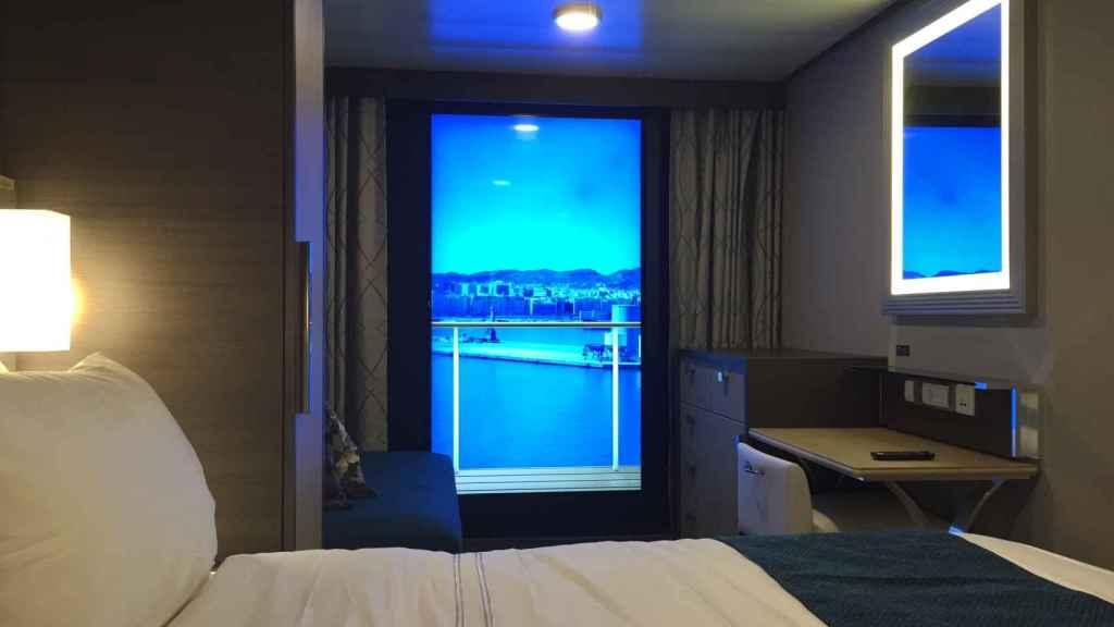 Uno de los camarotes con balcón virtual.