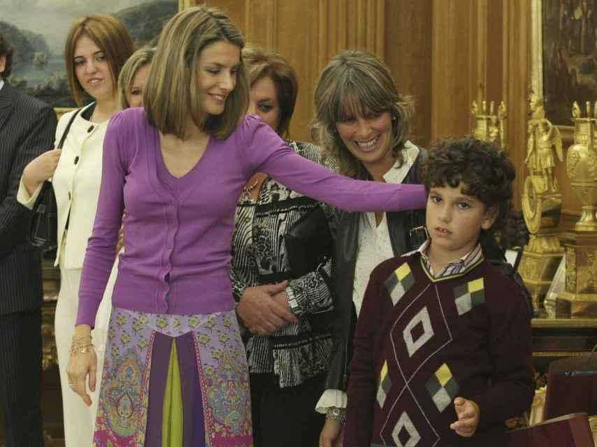 Audiencia de la reina Letizia a una asociación de padres de personas con autismo.