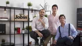 Alejandro Tébar, Guillermo Ángeles y Jorge Oliveros del Castillo, fundadores de Jobin