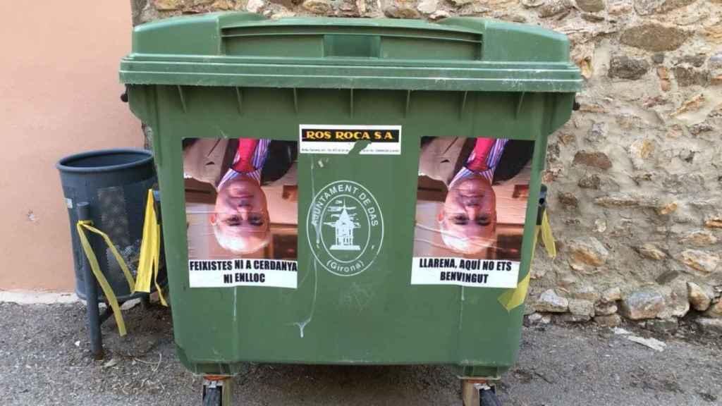 Acción de los CDR en Das, donde el juez Llarena tiene una residencia. No eres bienvenido, decían los carteles.