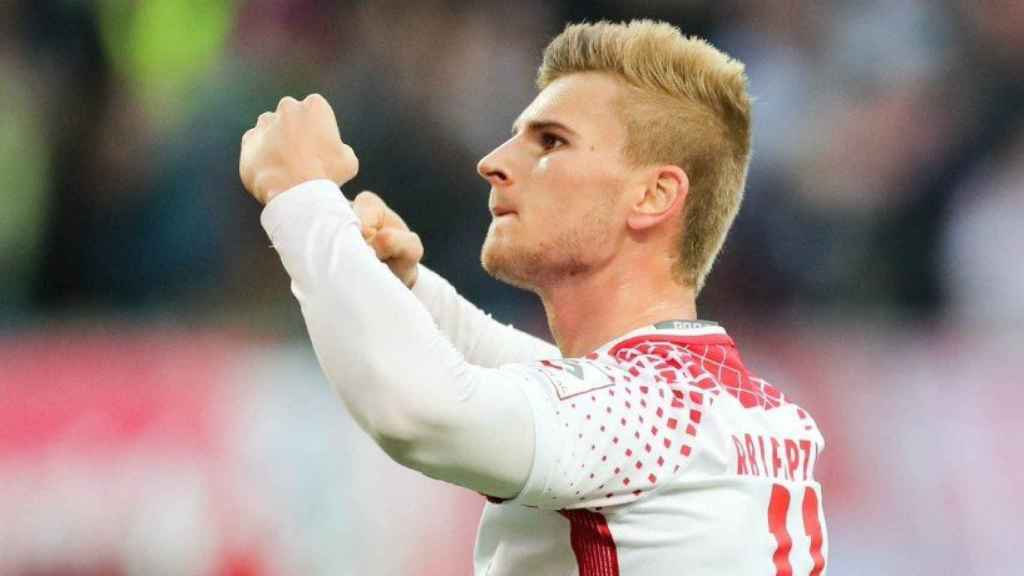 Werner celebra un gol.