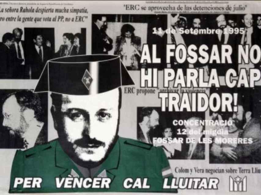 Un cartel de Terra Lliure contrario al político de ERC Àngel Colom