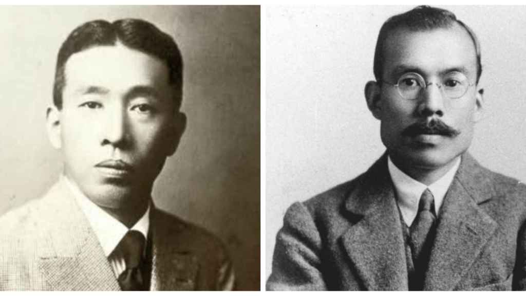 A la izquierda, Shinjiro Torii. A la derecha, Masataka Taketsuru. Los padres del whisky japonés