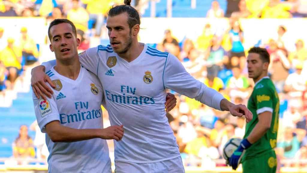 Bale junto a Lucas Vázquez en Las Palmas.