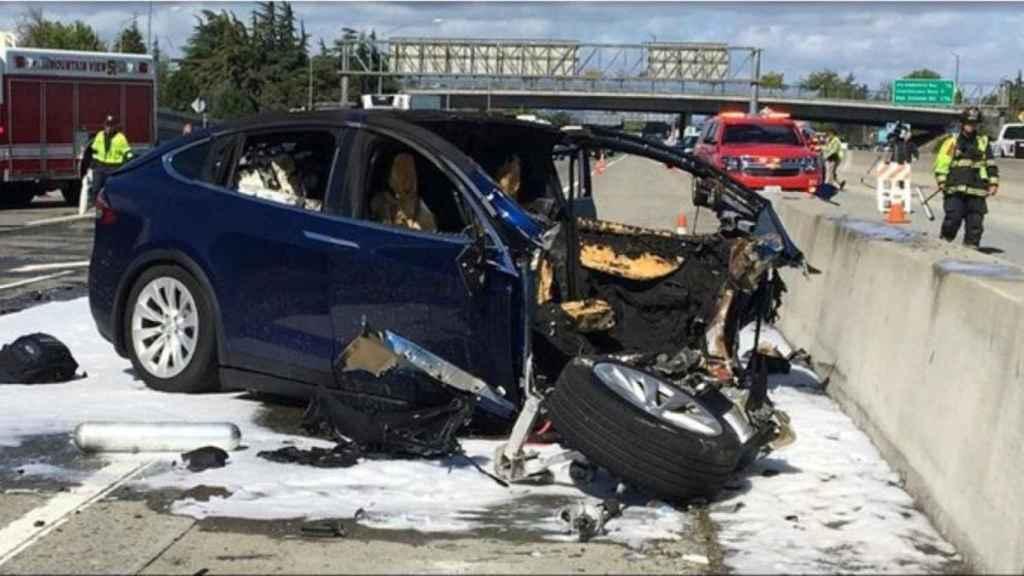 Imagen del accidente del pasado 23 de marzo en el que falleció el conductor.