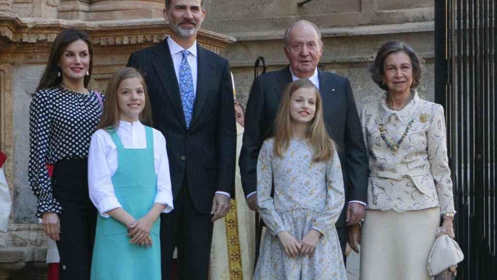 La Familia Real en la catedral de Palma de Mallorca durante el año pasado. Gtres.