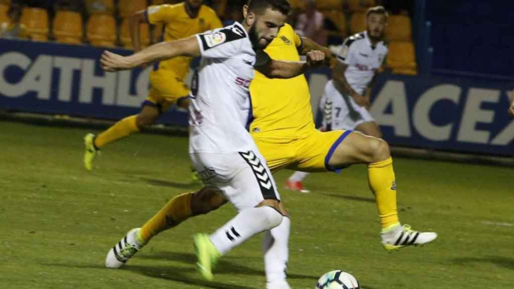 Pelayo Novo, durante un partido con el Albacete.