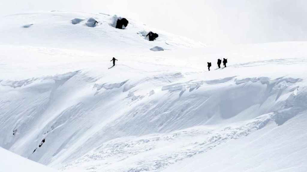 Imagen de los Alpes suizos de Valais.