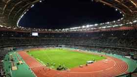El estadio de Saint Denis, durante pruebas de atletismo.