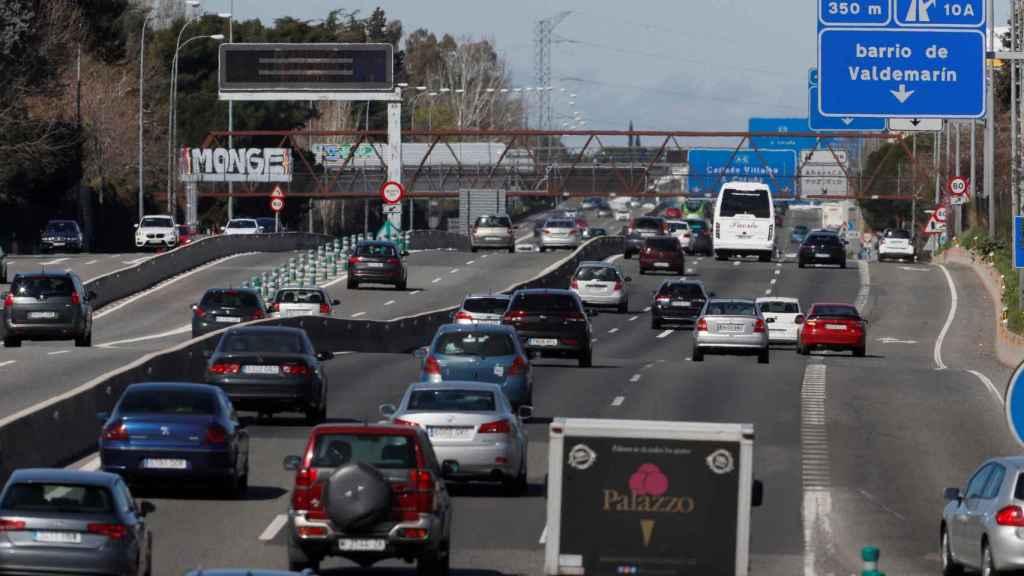 Vista de la salida de la A-6, carretera de A Coruña.