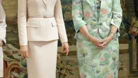 Letizia junto a la reina Sofía.