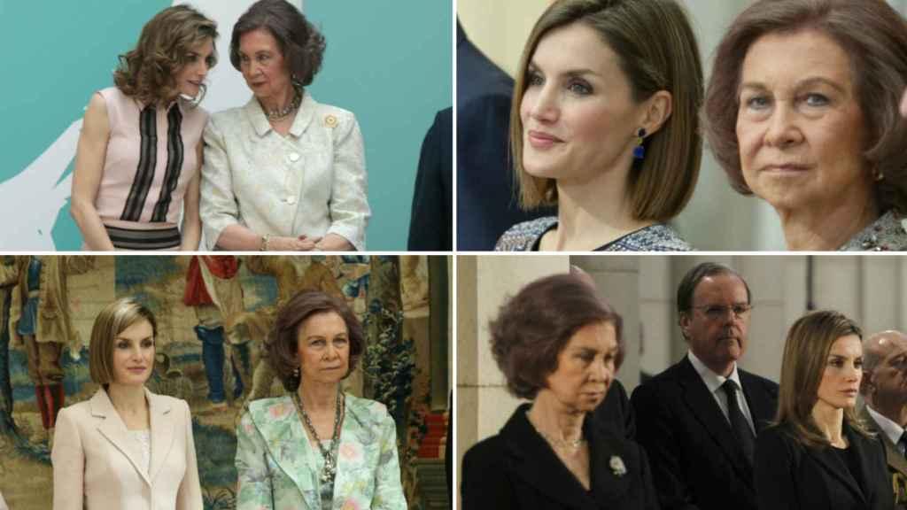 La reina Letizia y la reina Sofía.