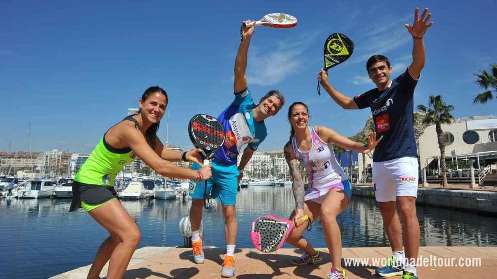 Mari Carmen Villalba, Miguel Lamperti, Alba Galán y Juani Mieres.