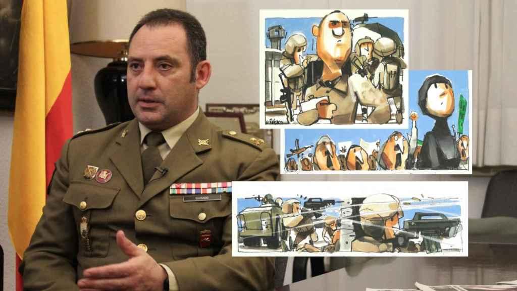 El capitán Jacinto Guisado protagonizó el rescate de Najaf (Irak).