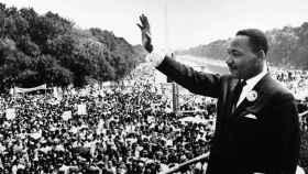 Luther King encabezando la Marcha de Washington