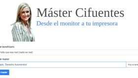 Ya puedes tener tu propio master certificado por Cifuentes gracias a esta web