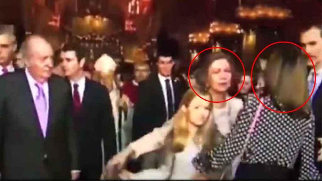 Captura del vídeo de la polémica 'real'.