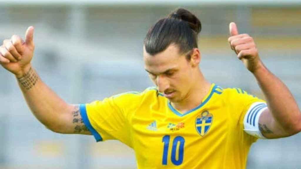 Ibrahimovic, con la selección sueca. Foto: svenskfotboll.se
