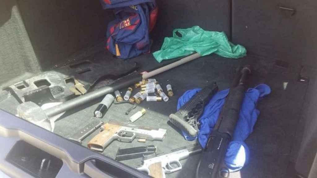 Armas decomisadas durante un operativo policial a un grupo de narcos en Algeciras.