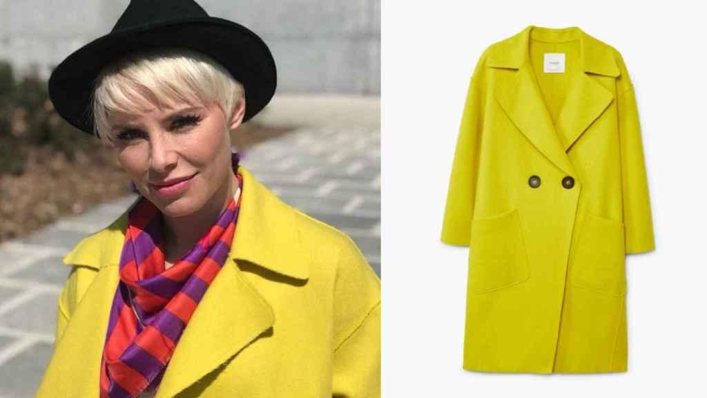 Soraya con su llamativo abrigo.