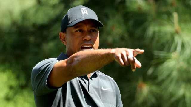 Tiger Woods durante su primera jornada en Augusta