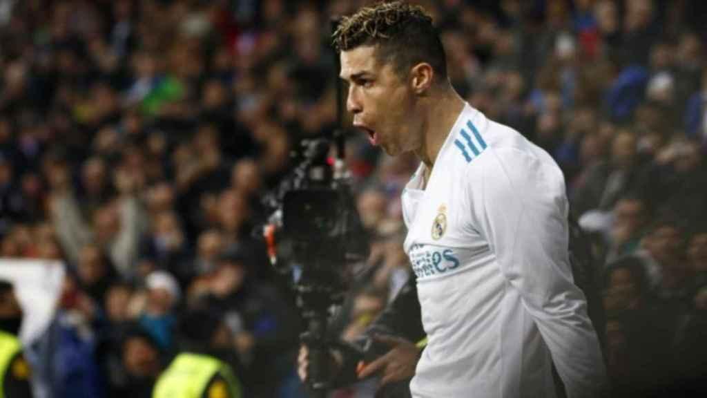 Cristiano celebra su gol al Girona. Foto: Pedro Rodriguez/El Bernabéu