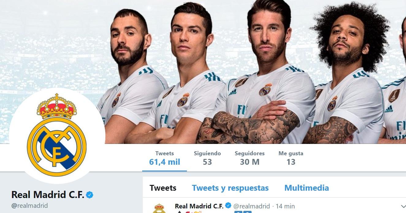 El Real Madrid, rey de Twitter: primera entidad deportiva con 30 millones de seguidores