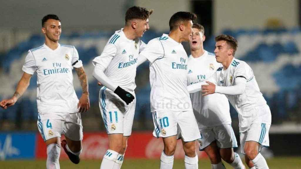 El juvenil A celebra un gol