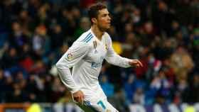 Cristiano Ronaldo celebrando un gol. Foto: Pedro Rodríguez/El Bernabéu