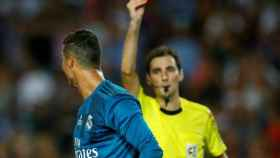 De Burgos Bengoetxea expulsa a Cristiano. Foto Instagram (@cristiano)