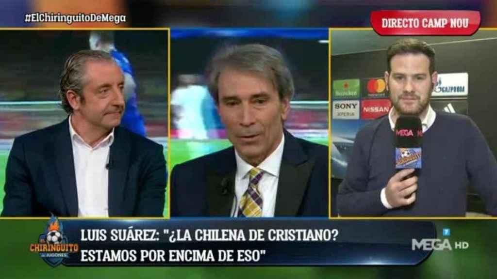 Lobo Carrasco en El Chiringuito. Foto: Twitter (@elchiringuitotv)