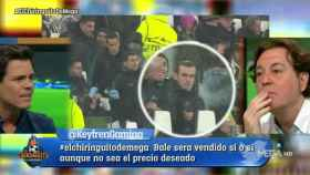Edu Aguirre y Pipi Estrada hablan de Gareth Bale. Foto: Twitter (@elchiringuitotv)